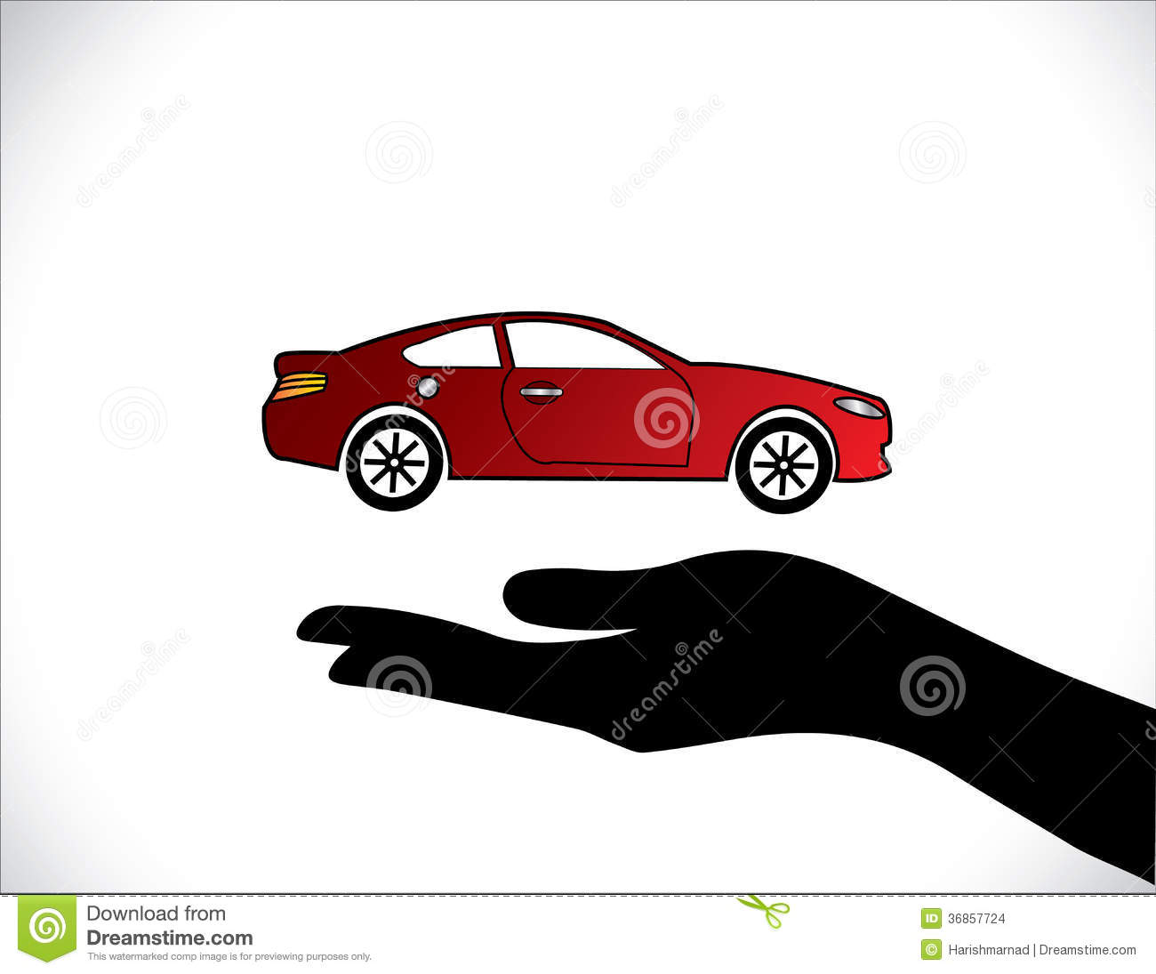 Stock Images: Concept Illustrations of Car Insurance or Car Protection