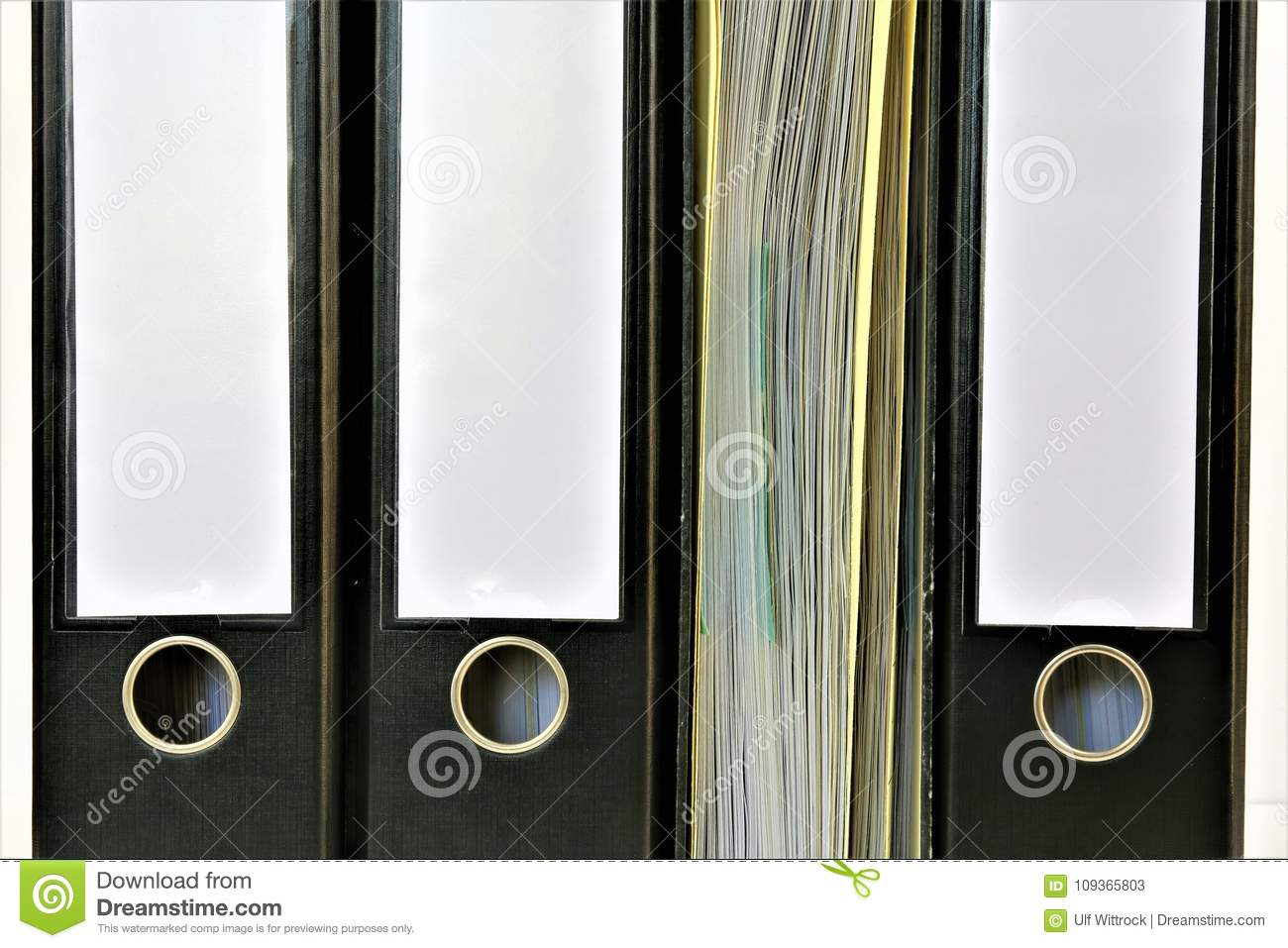 An concept Image of a binder with copy space