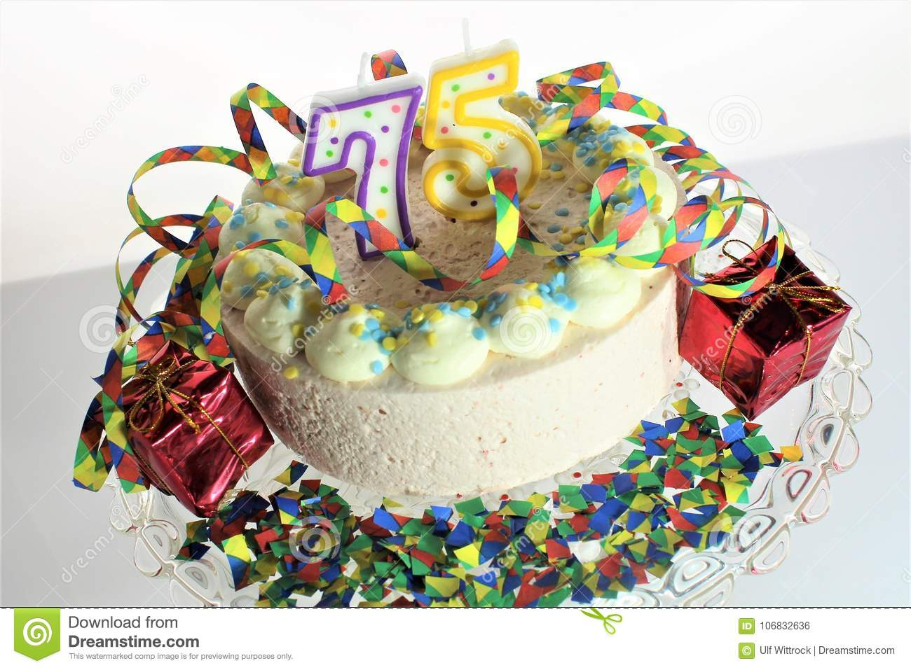 An Concept Image Of A Birthday Cake