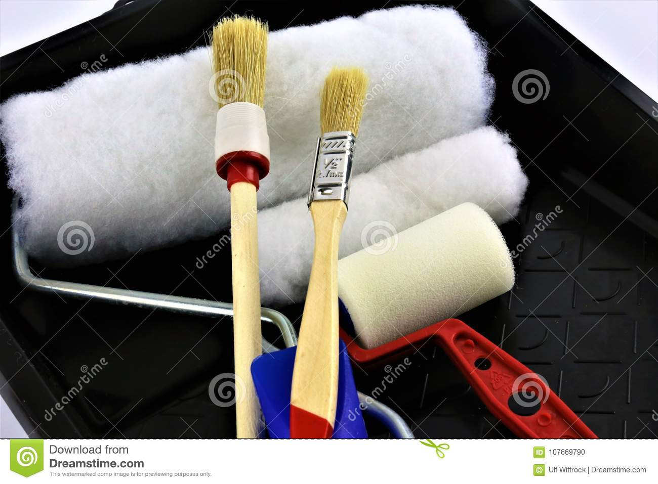 An concept Image of a home painting brushes