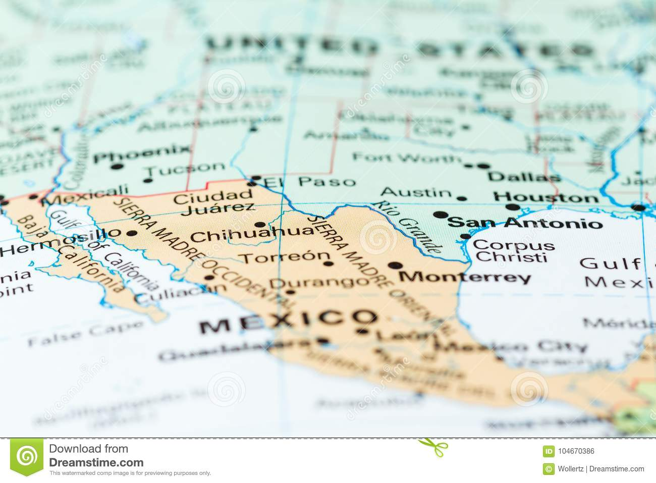 The Mexico USA border stock photo. Image of english - 104670386