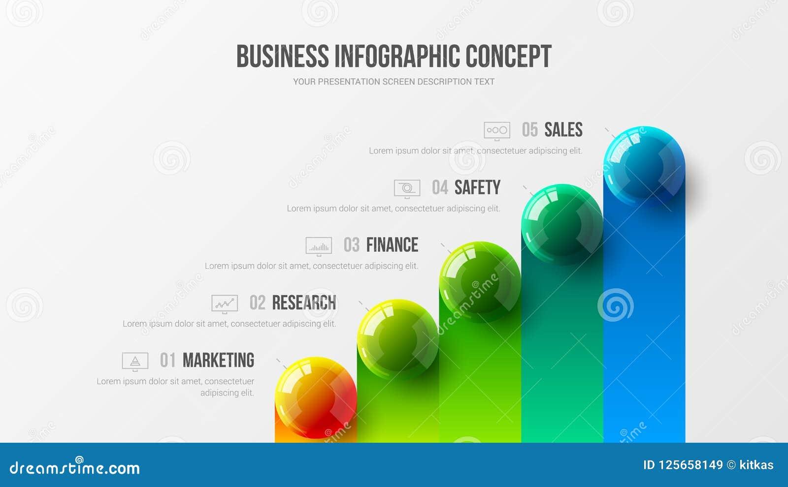 Concept infographic d illustration de vecteur de présentation d affaires étonnantes Les données d entreprise d analytics de vente