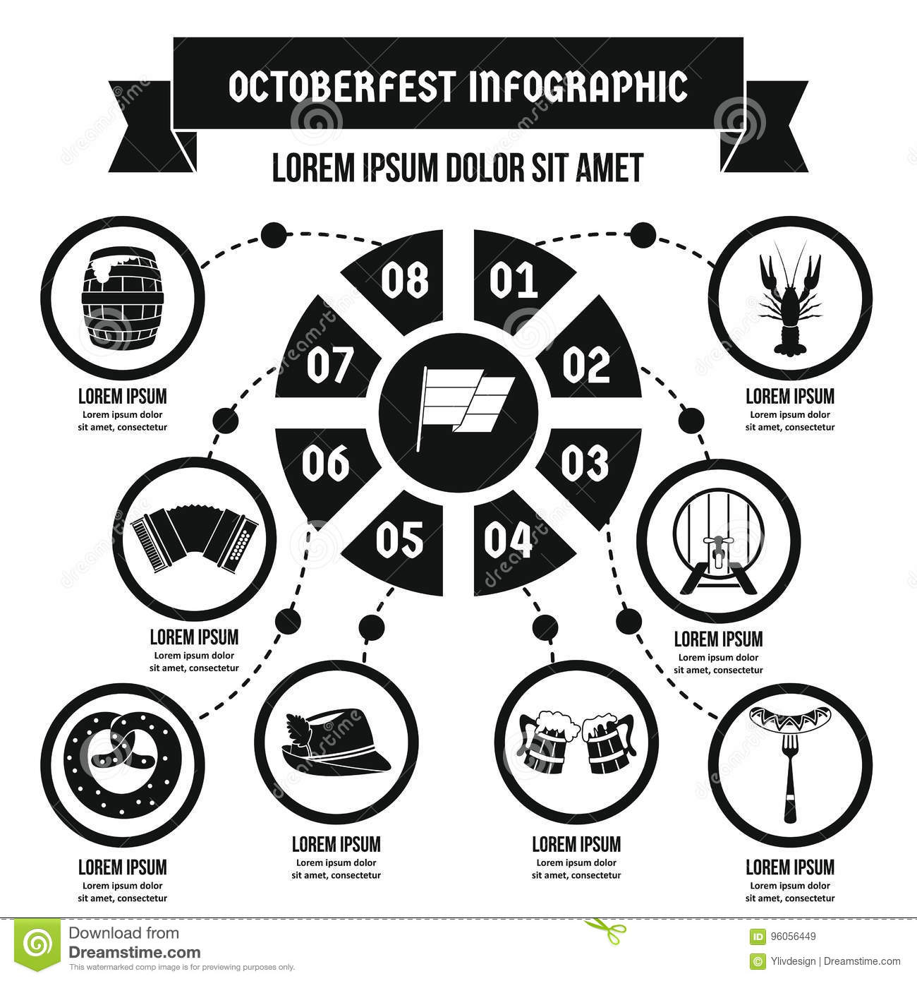 Concept infographic d Octoberfest, style simple