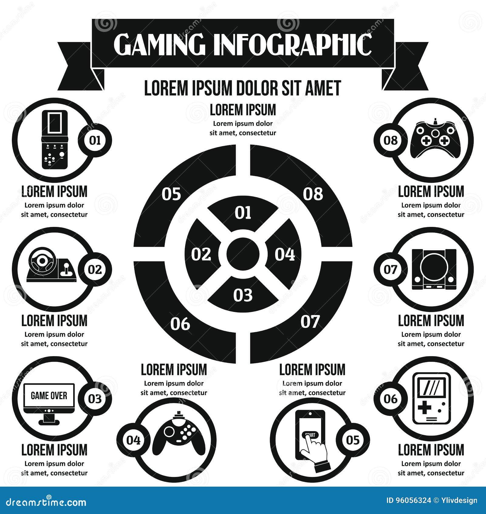 Concept infographic de jeu, style simple