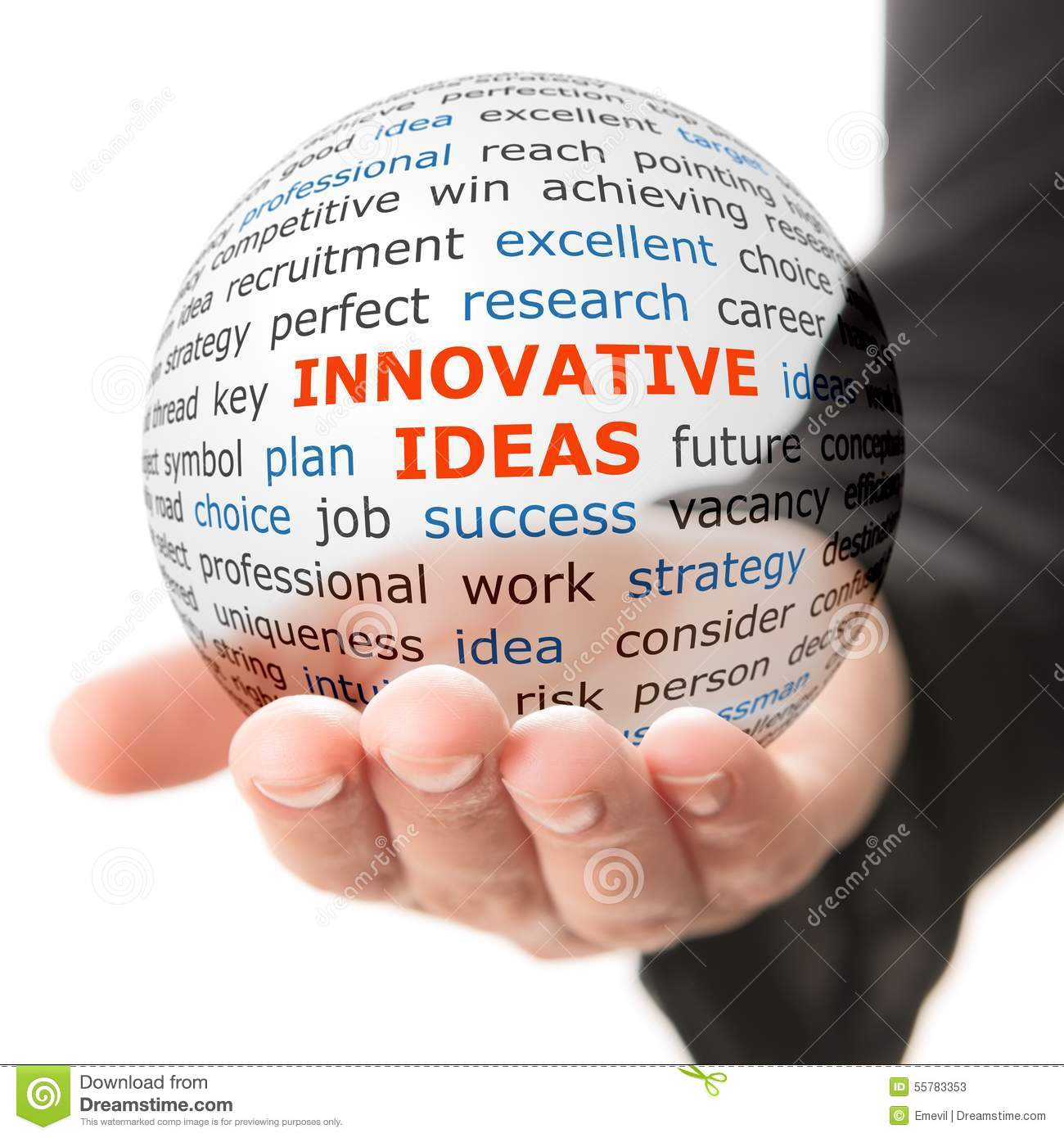 Concept Of Innovative Ideas In Business Stock Illustration ...