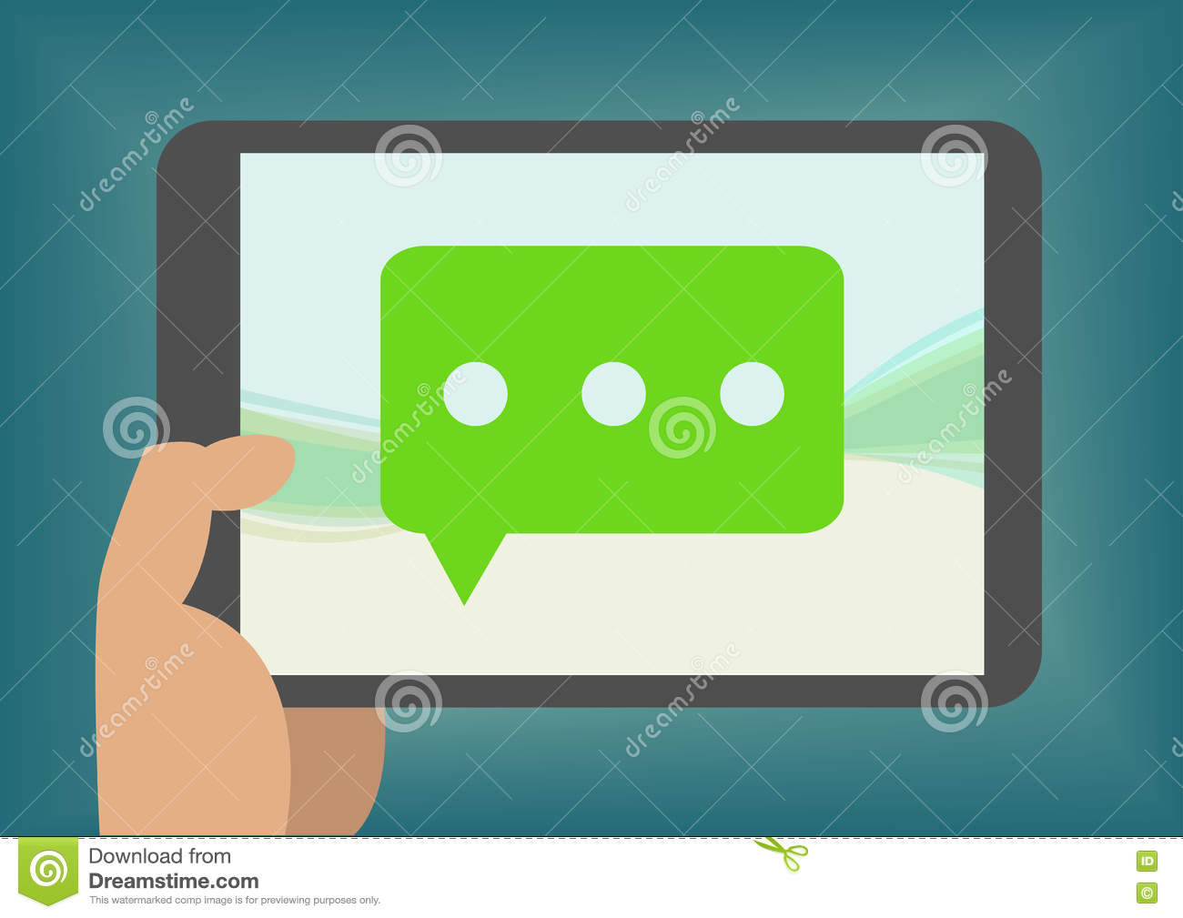 Instant Message Cartoon : Communication instant messaging chatting talking concept