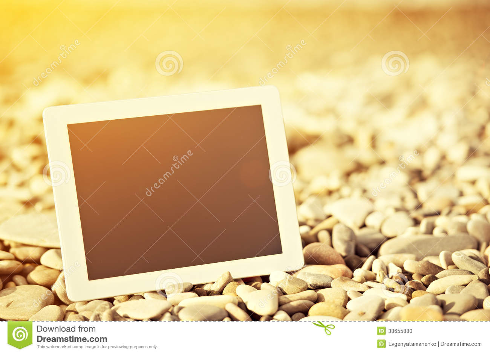 Concept Internet. lege tabletcomputer