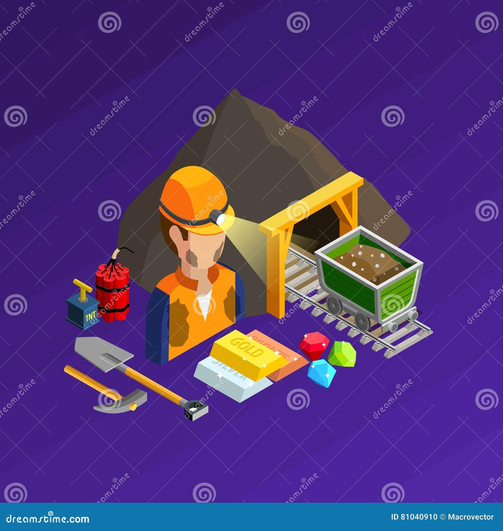 Concept isométrique de extraction de travail