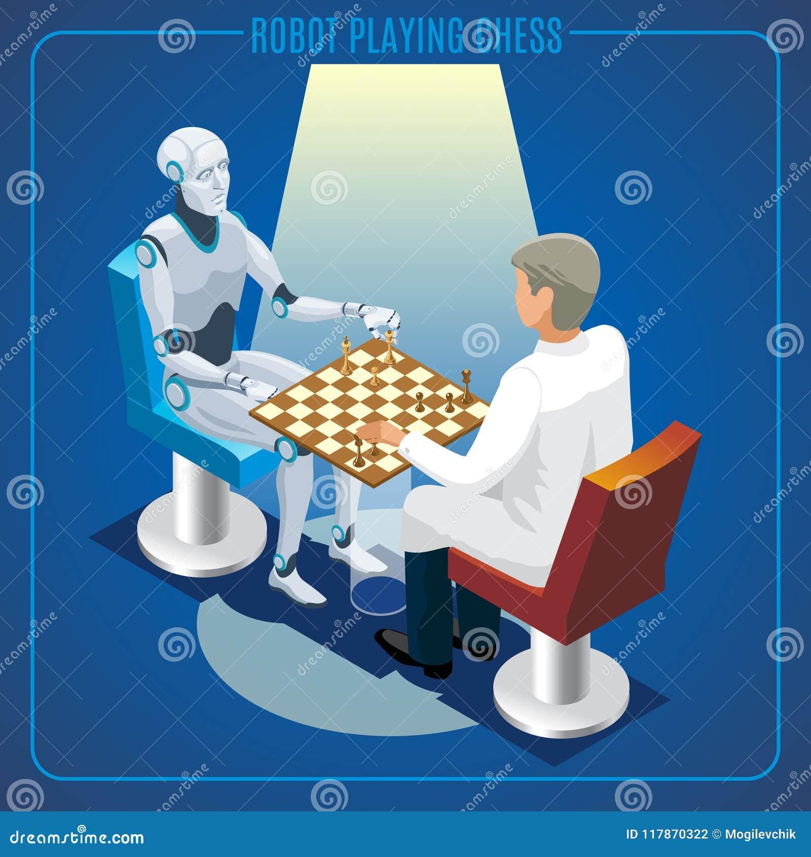 Concept isométrique de technologie d intelligence artificielle
