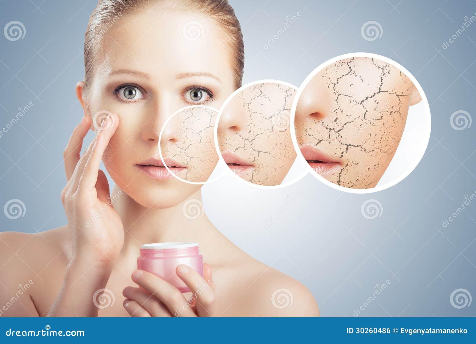 droge huid gezicht vrouw