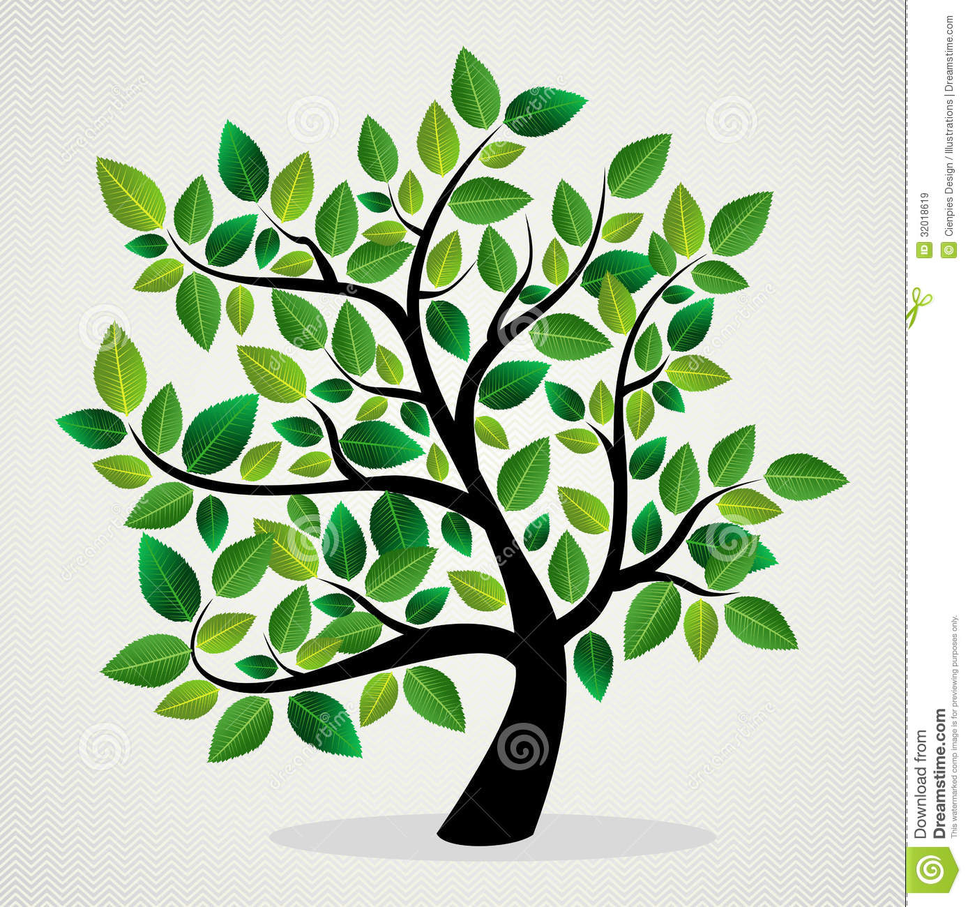 Green leaf eco friendly tree design background. Vector file layered ...