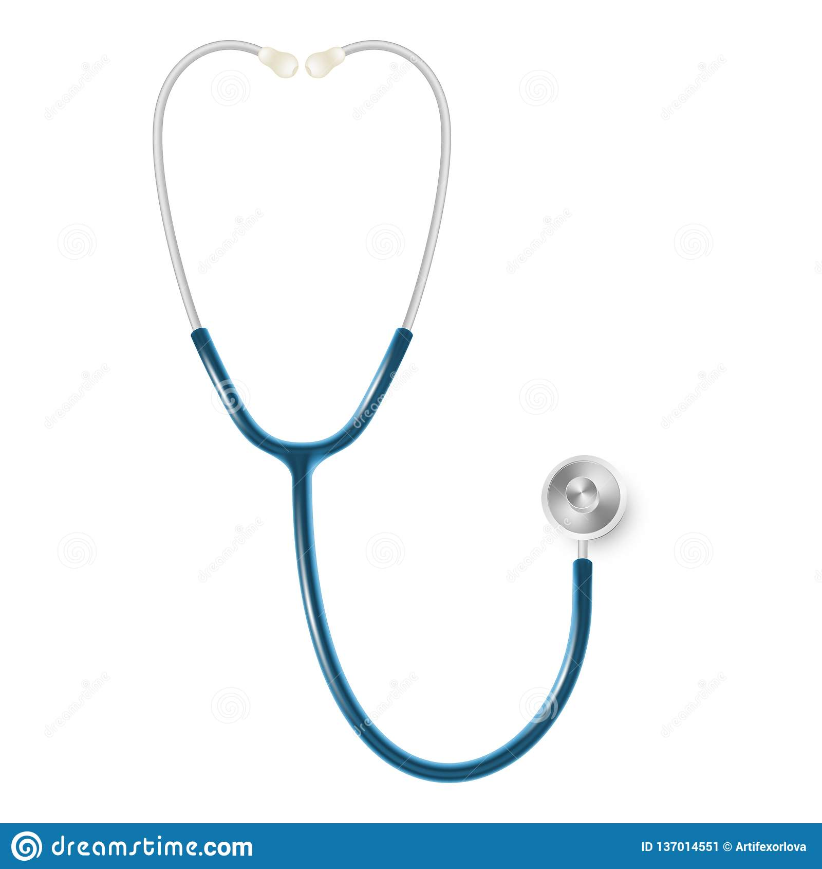 Concept médical et de soins de santé, stéthoscope du docteur s d isolement sur le fond blanc ENV 10