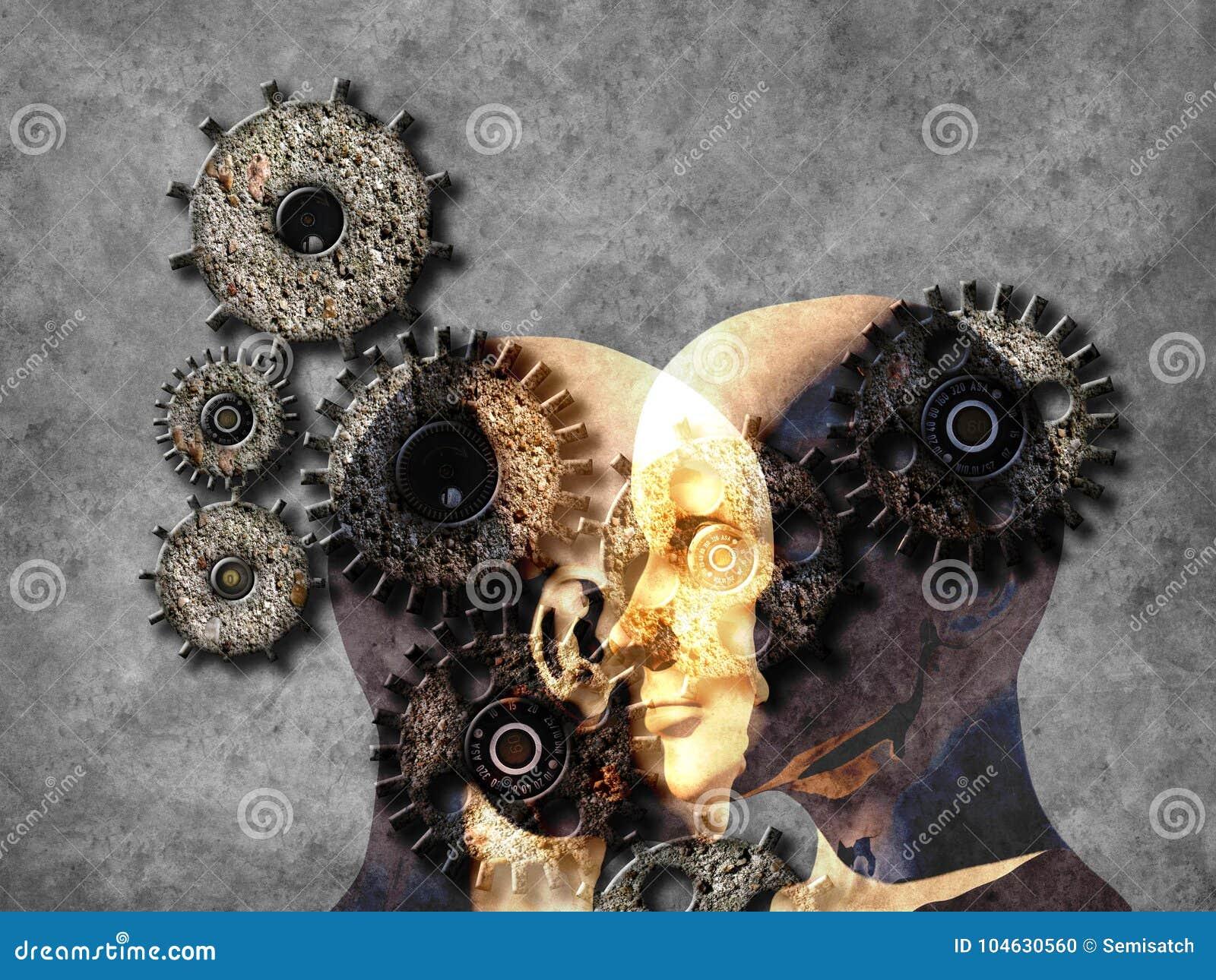 Download Concept Machine Die Kunstmatige Intelligentie Leren Te Verbeteren Stock Illustratie - Illustratie bestaande uit aansluting, diep: 104630560