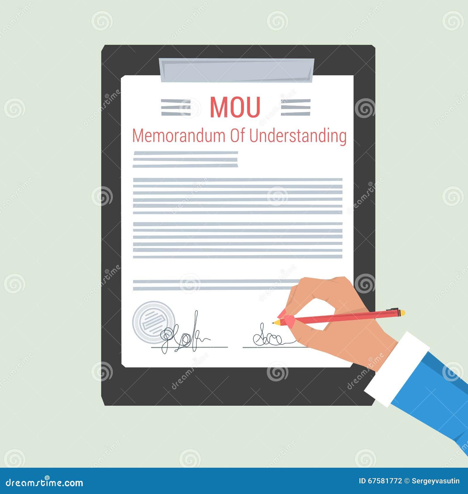 concept memorandum of understanding stock illustration image concept memorandum of understanding