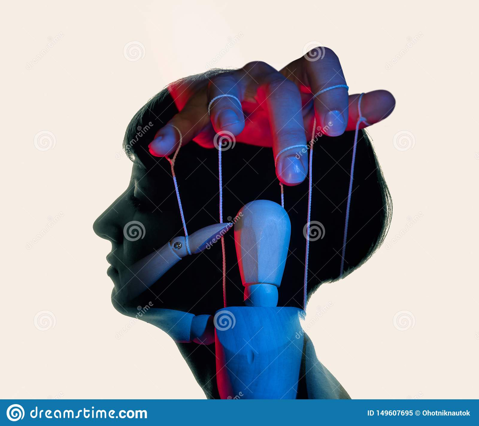 Concept of mind control. Image