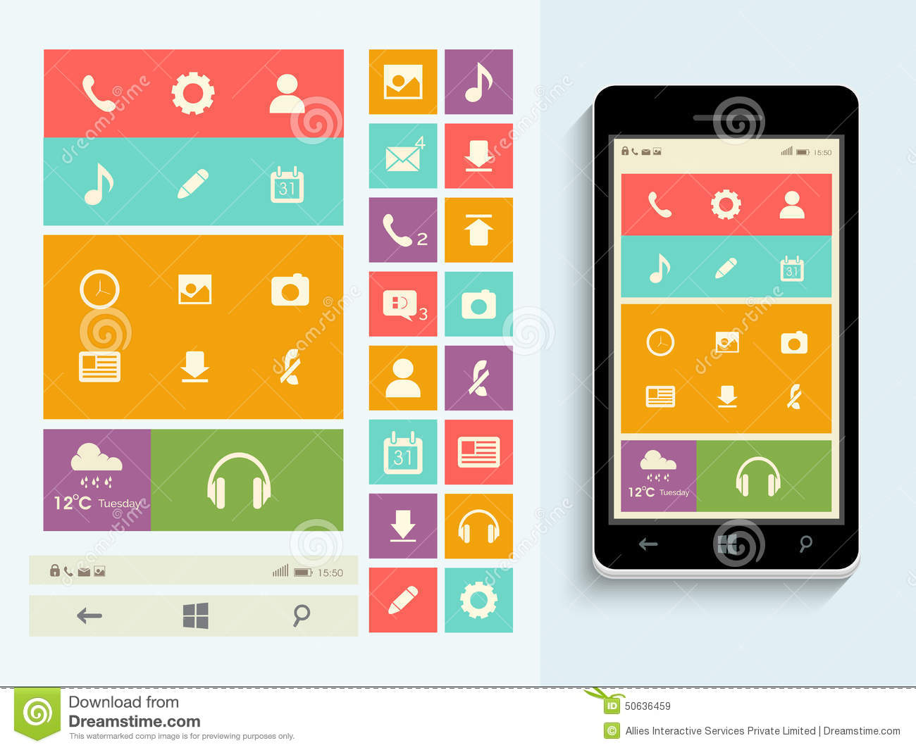 Concept of mobile user interface.