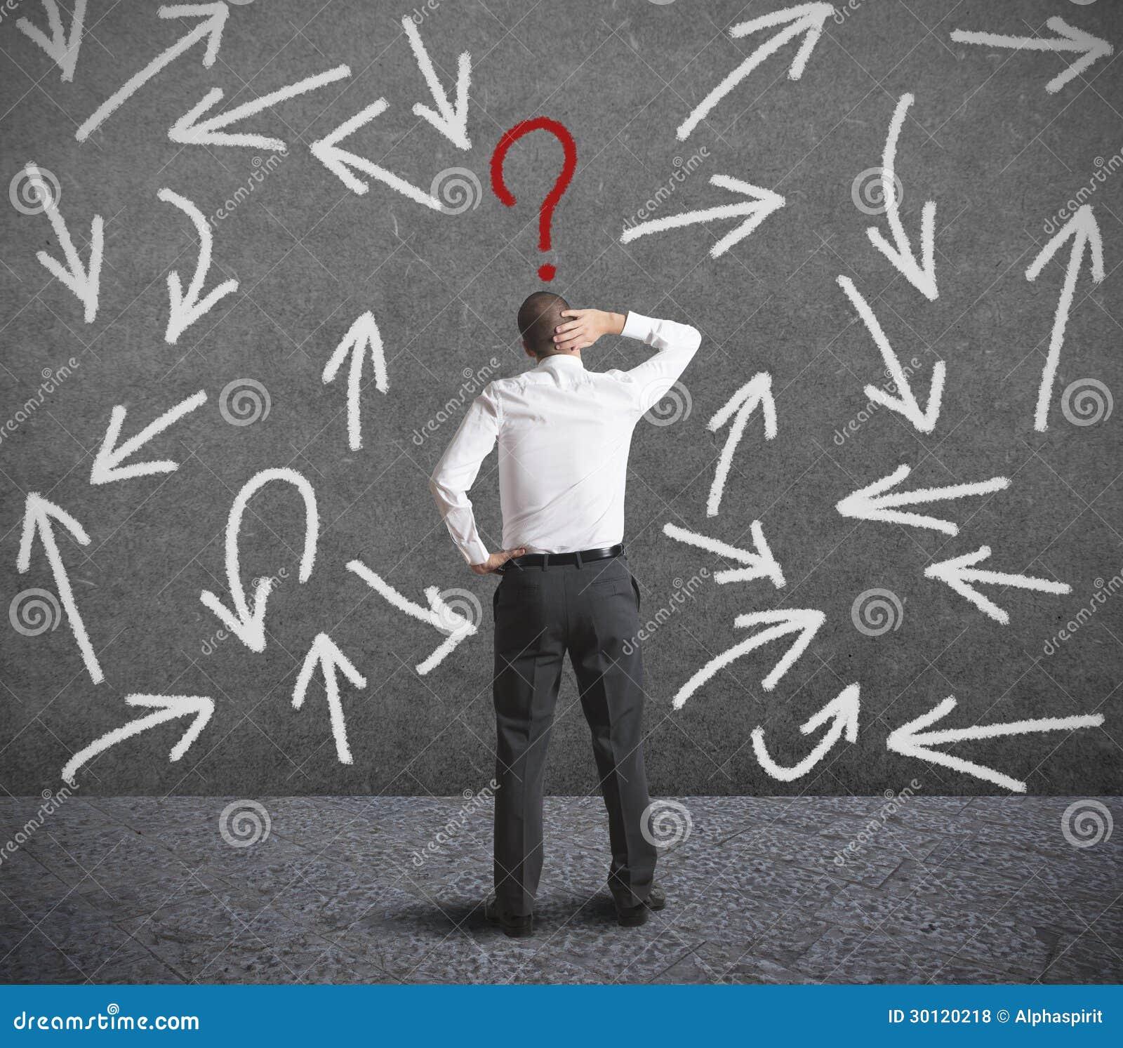 Moeilijke keuzen van een zakenman