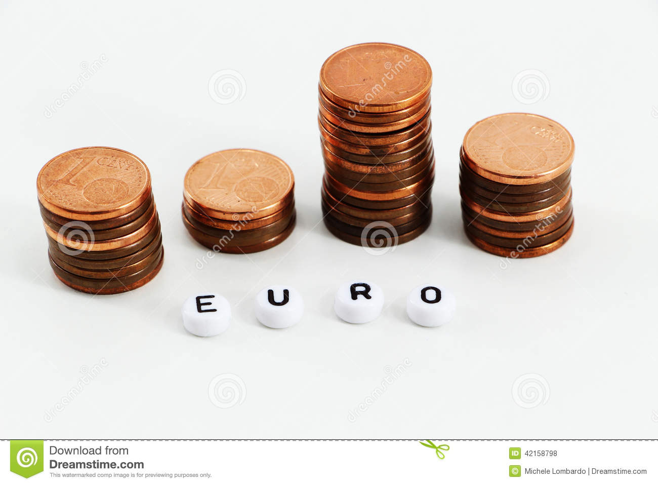 Concept of money, staggered coins
