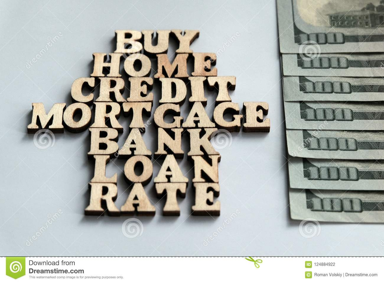Words Buy Home Credit Mortgage Bank Loan Rate Lined With
