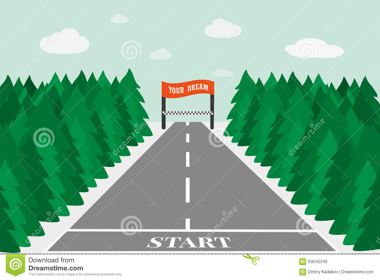 concept motivating to achieve the objectives stock vector concept motivating to achieve the objectives