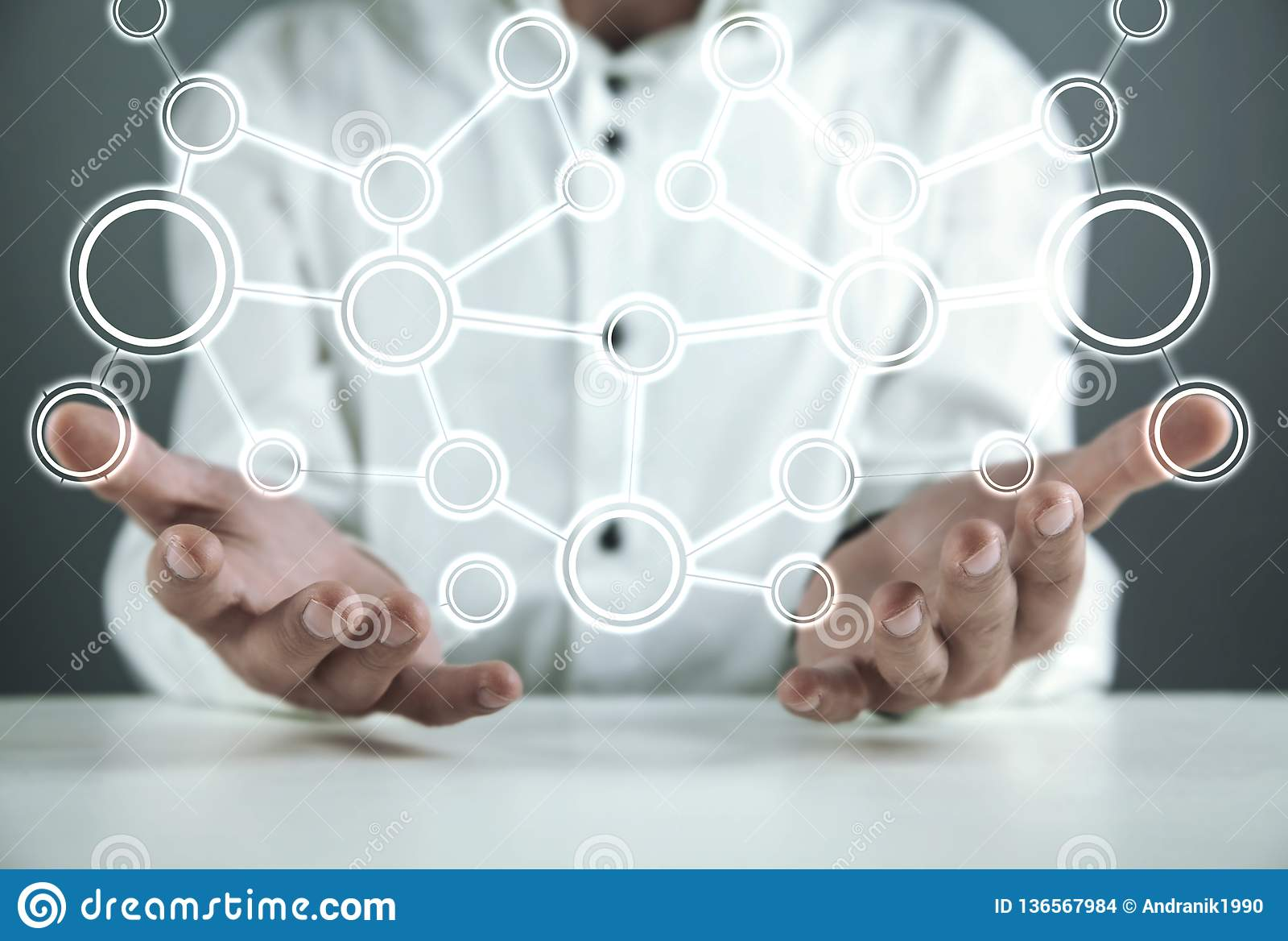 Concept netwerk Internet-mededeling