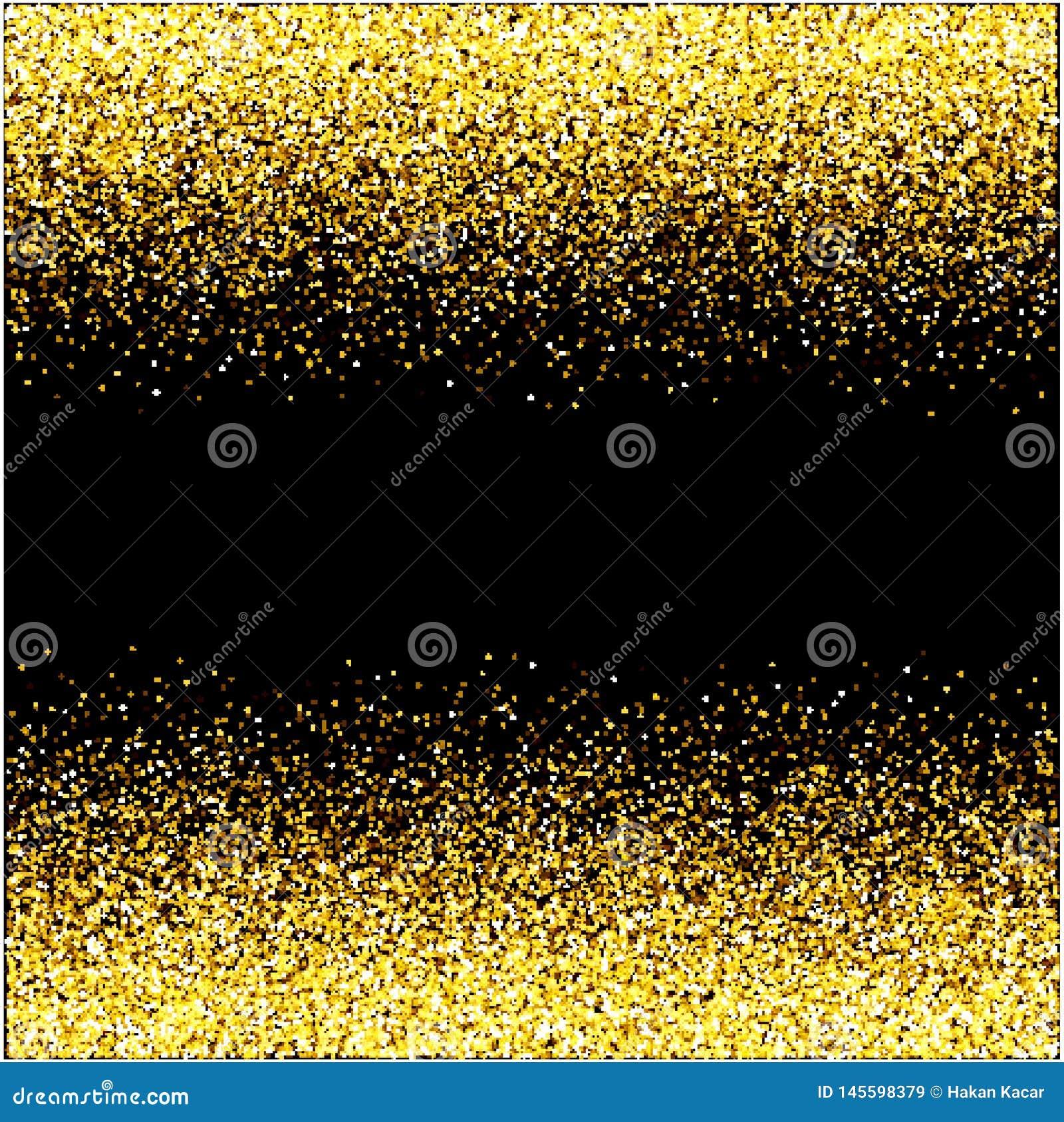 Concept noir de vacances de bonne ann?e de fond de scintillement de cascades d ?tincelle-bulles de champagne d ?toiles d or de pa