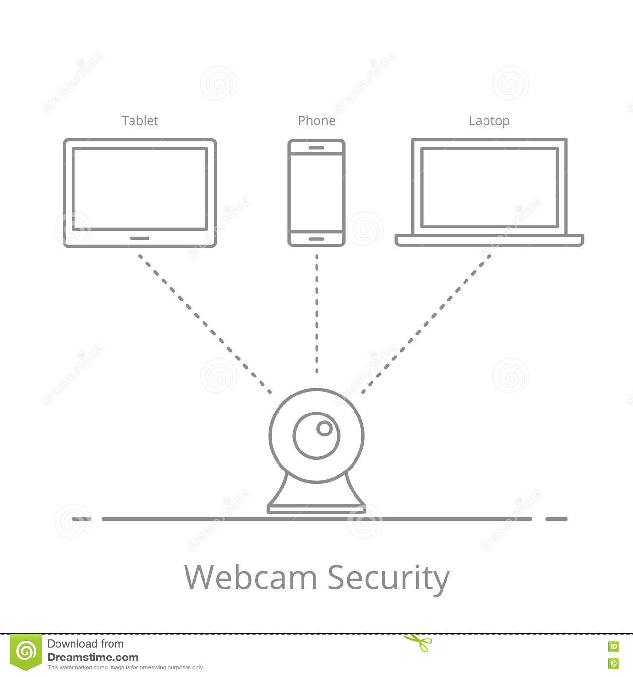 Concept Of Observation Via A Web Camera On Your Mobile Devices Phone Wire Wiring Diagram Security Video System
