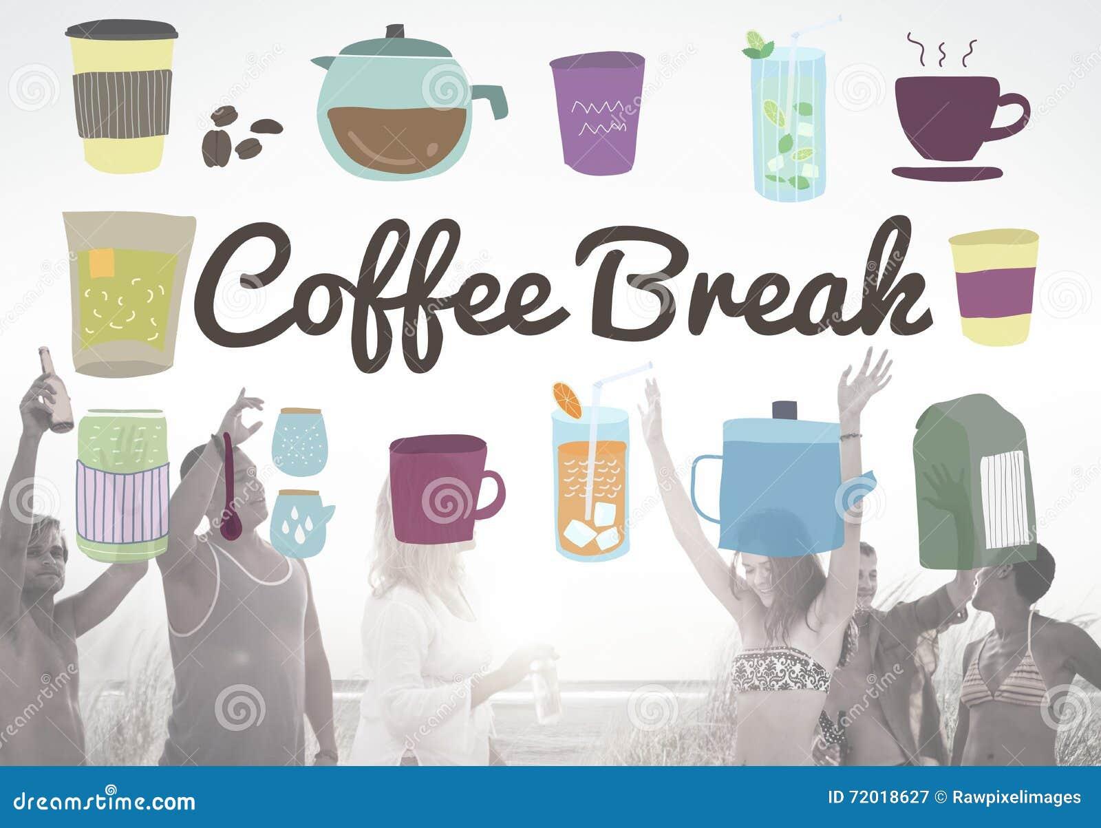 Concept occasionnel de relaxation de pause de boisson de pause-café