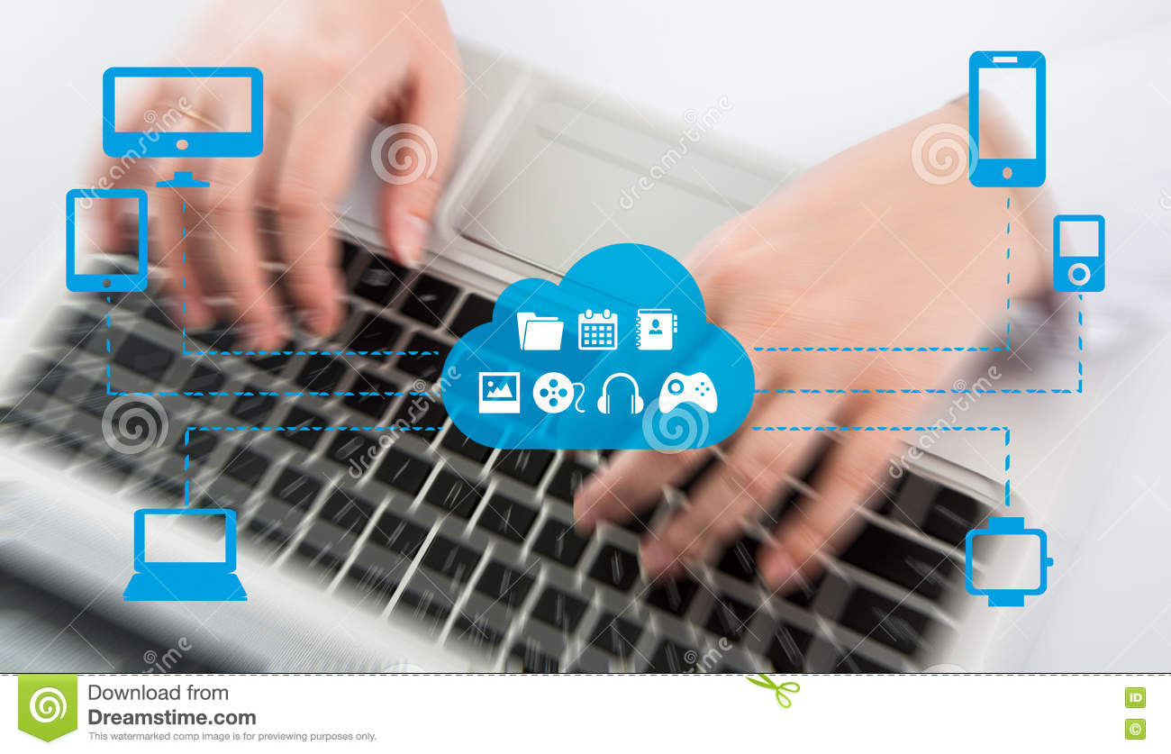 Download The Concept Of Omnichannel Between Devices To Improve The Performance Of The Company. Innovative Solutions In Business Stock Photo - Image of cross, global: 74194680