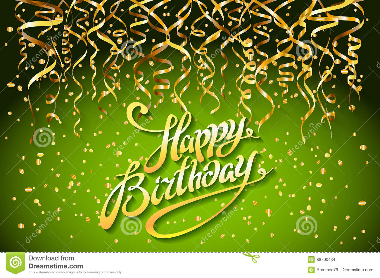 happy birthday green font vector free vector graphic