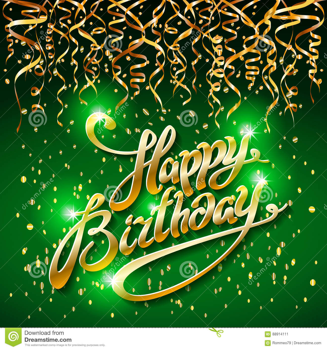 happy birthday green Concept Party On Green Dark Background Top View Happy Birthday  happy birthday green