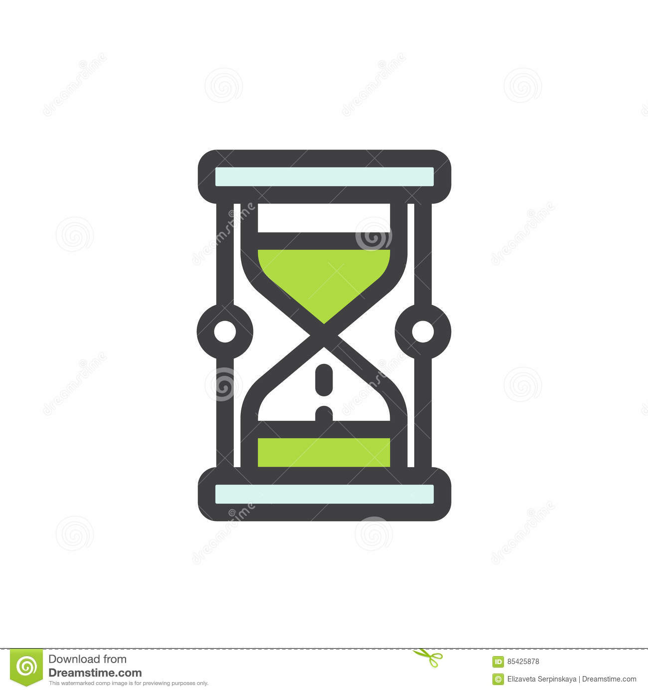 Concept Of Patience Deadline And Limit Stock Vector Illustration
