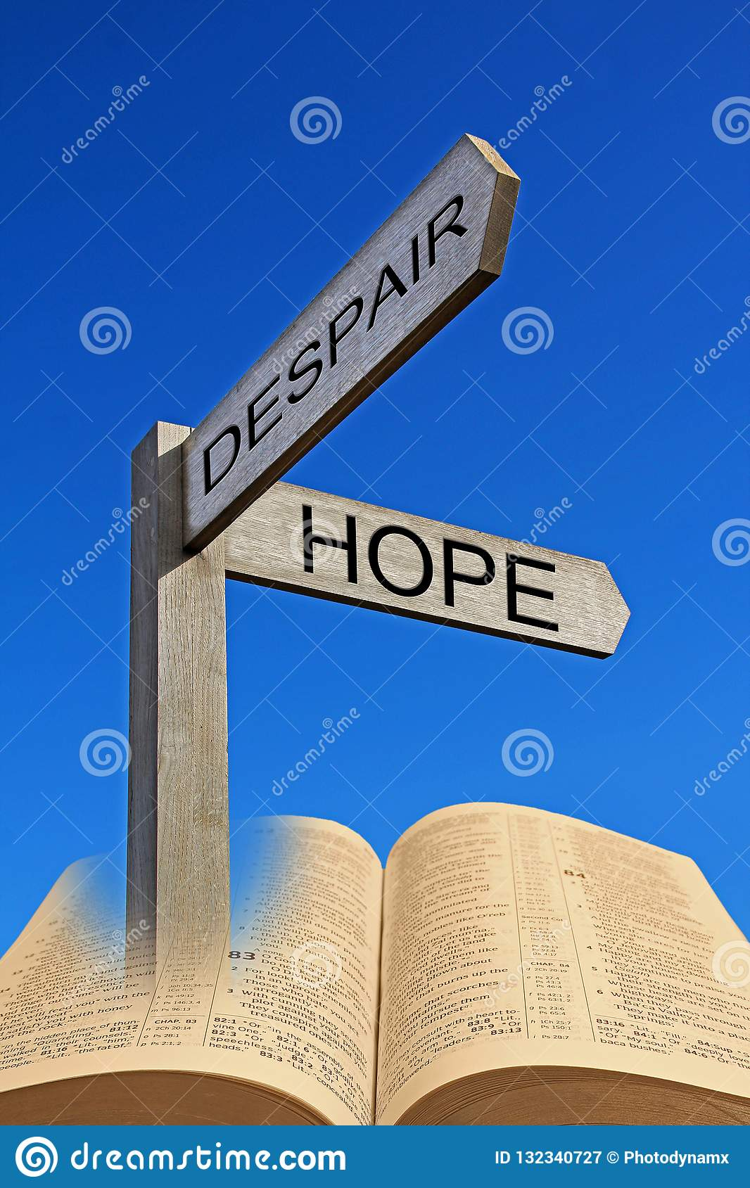 Bible spiritual direction arrow sign despair hope