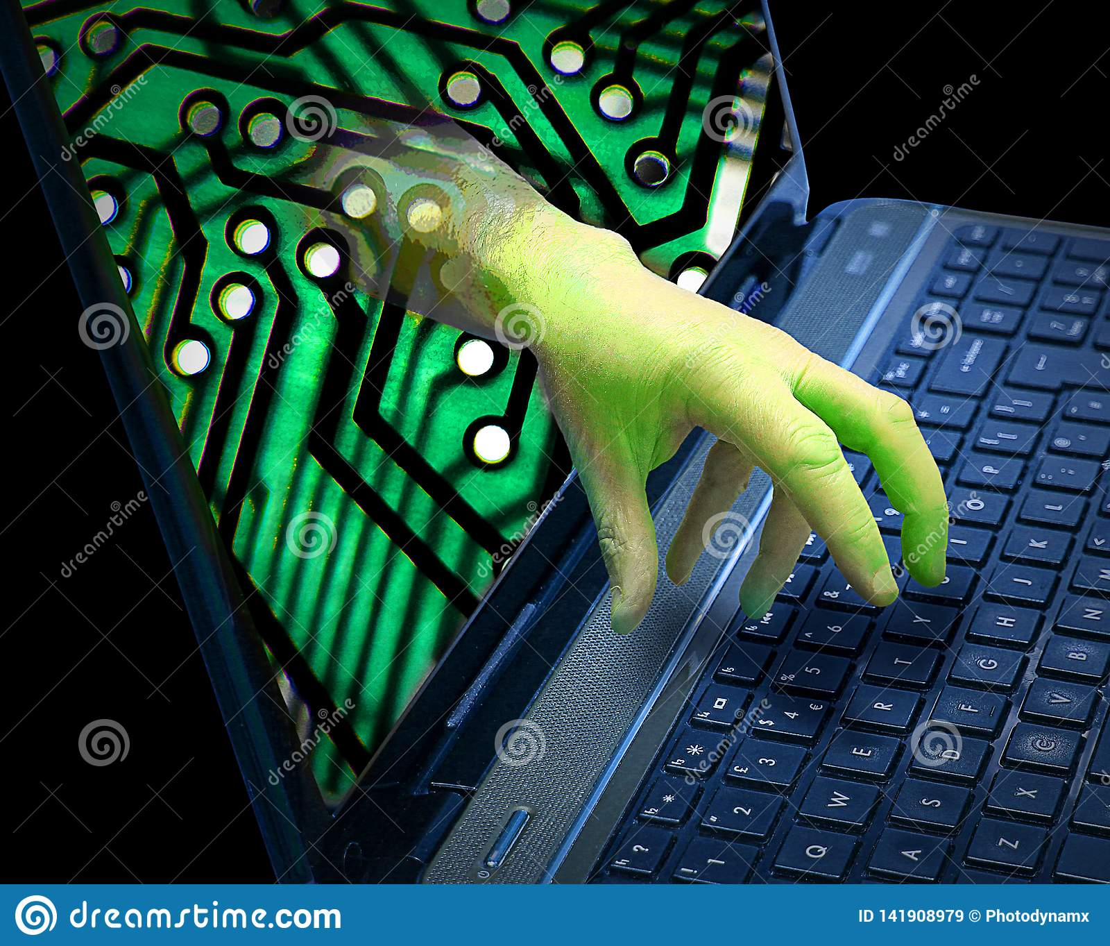 Cyber Internet Online Hacking Trojan Ransomware Phishing