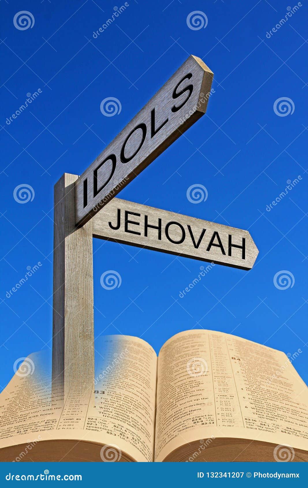 Bible Spiritual Direction Arrow Sign Jehovah Versus Idols