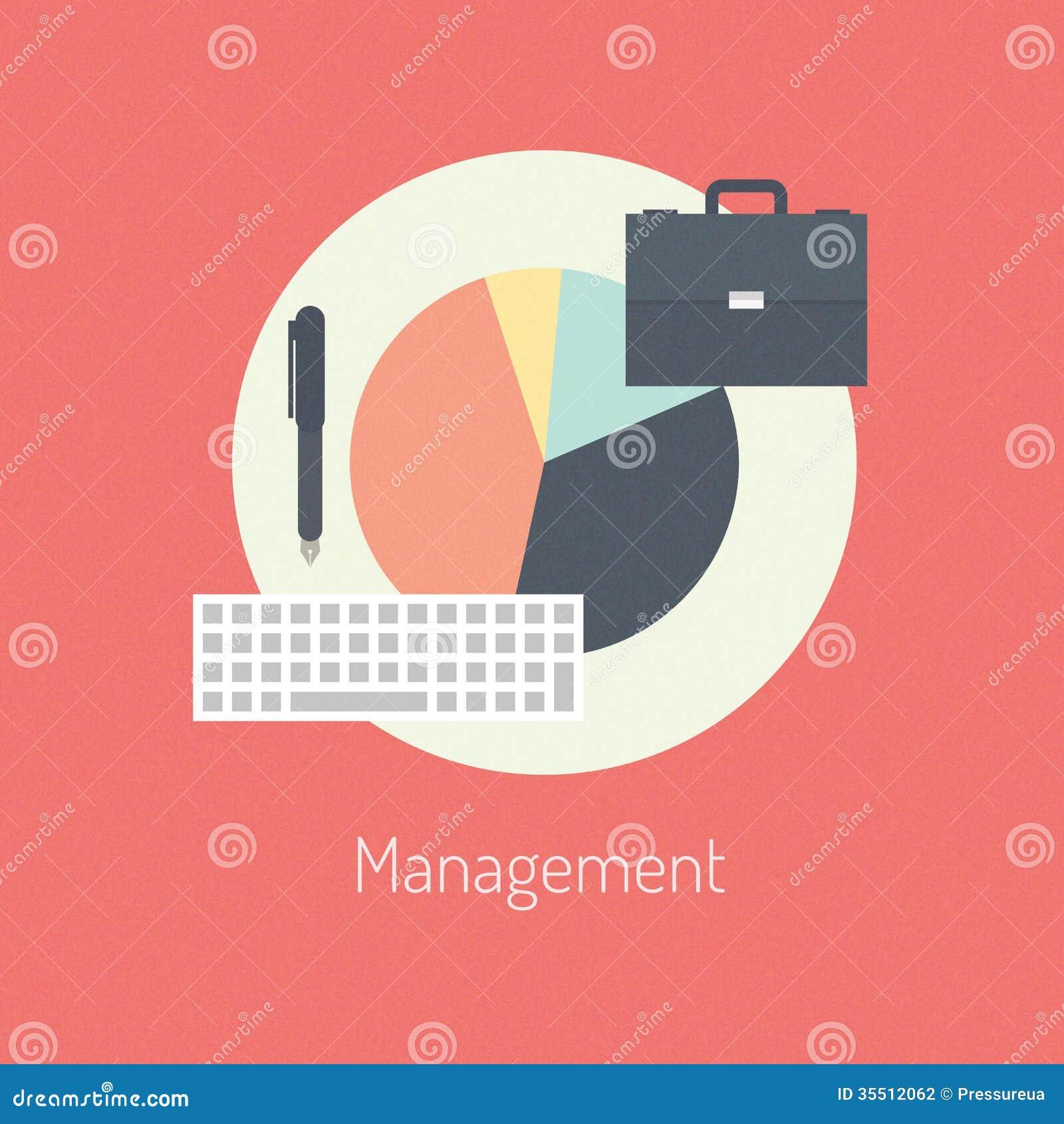 Concept plat d illustration de gestion