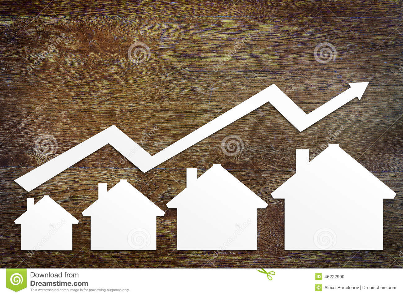Download Concept Of Real Estate Sales Growth Stock Photo - Image of home, prices: 46222900