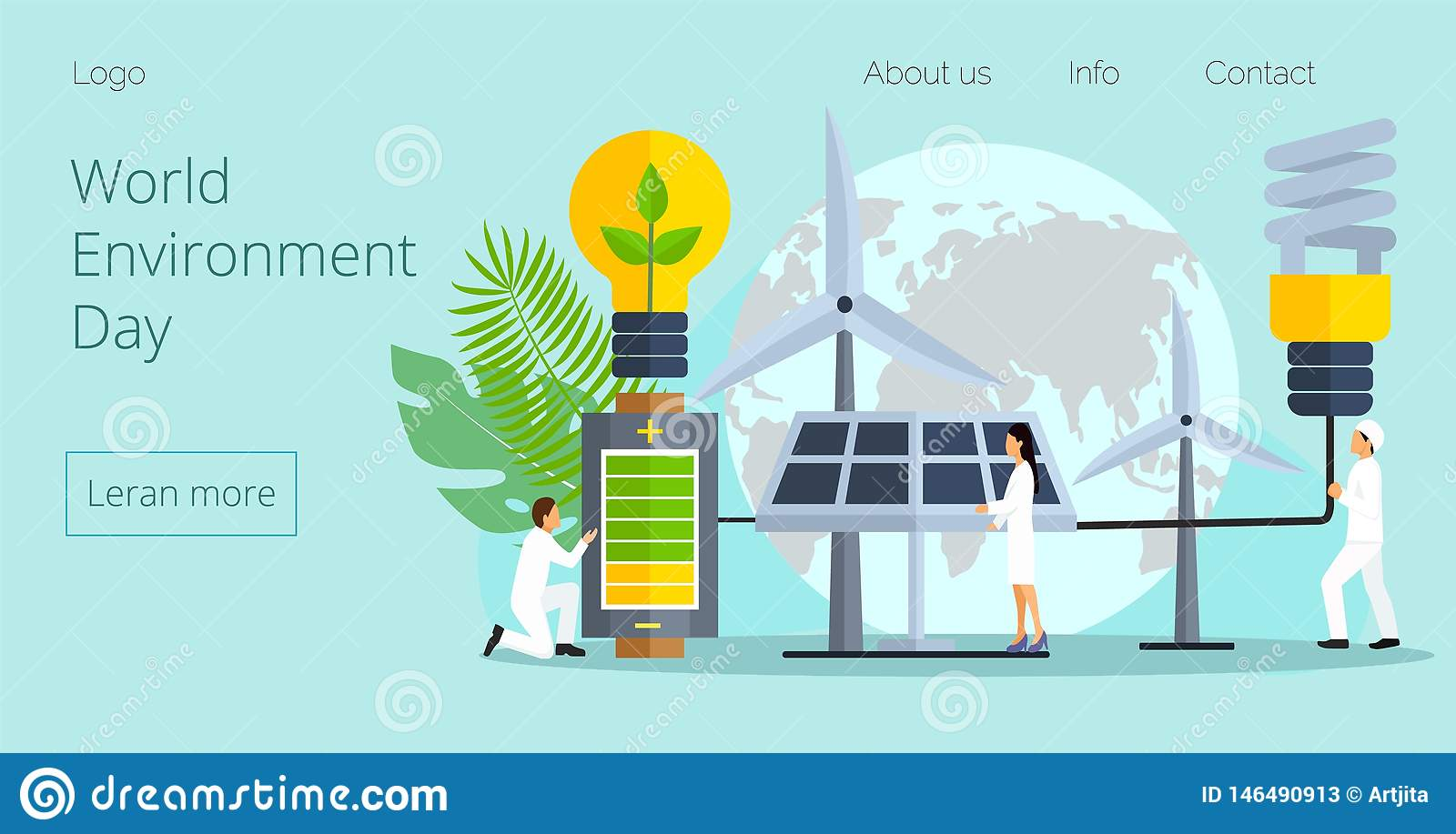 Concept of save the planet, save energy