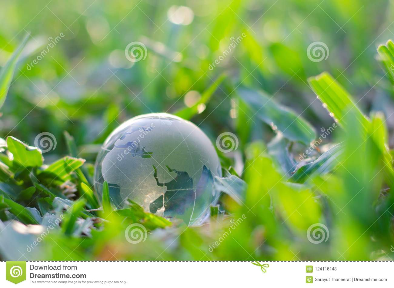 Concept Save The World Save Environment The World Is In The Grass Of