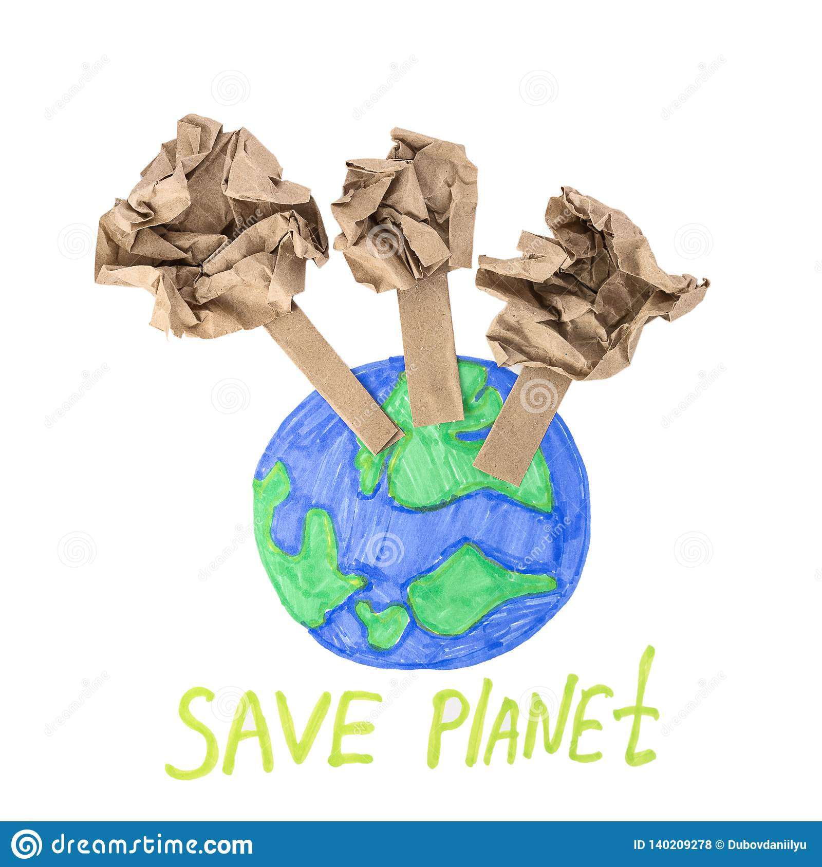 The concept of saving paper save the planet
