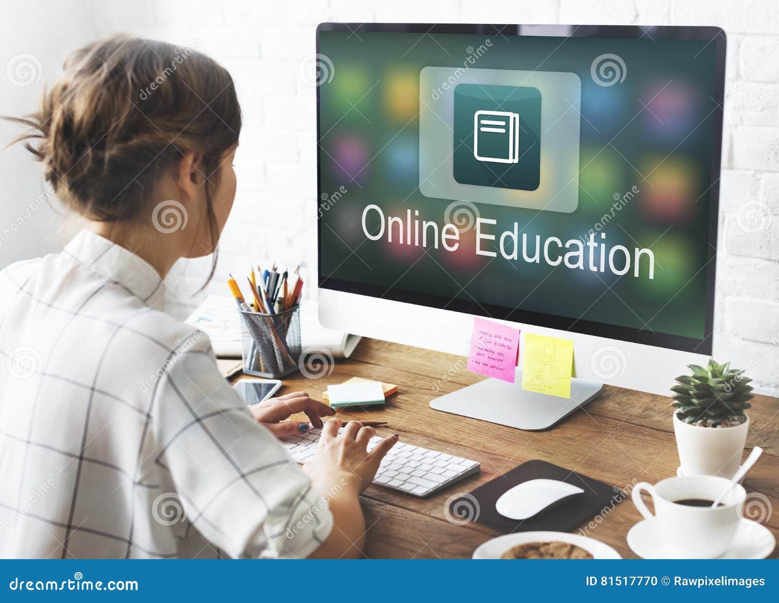 Concept scolaire de programme d application temps réel d éducation d apprentissage en ligne