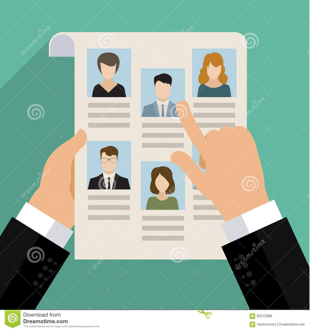 concept of searching for professional stuff stock vector image concept of searching for professional stuff