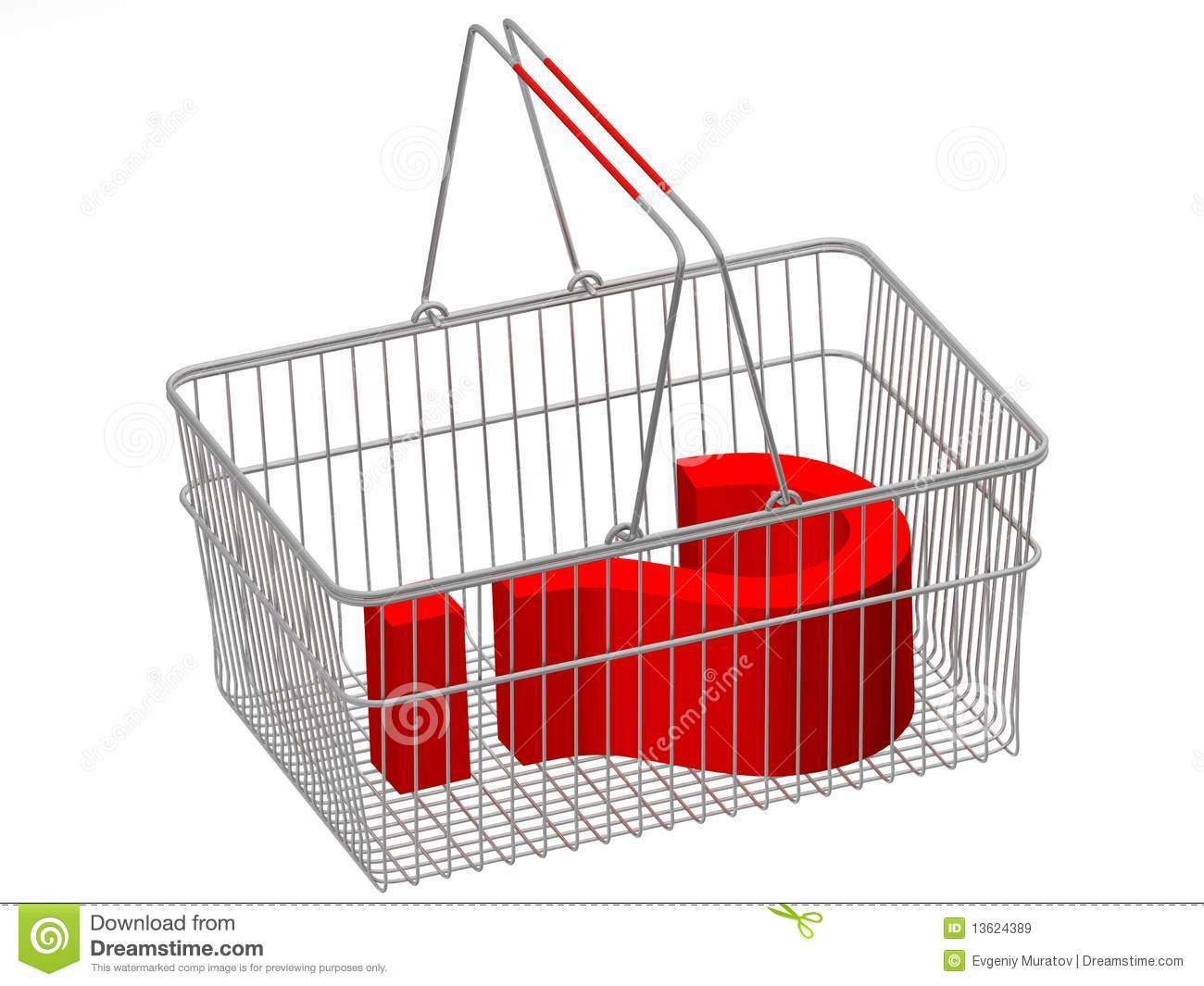 Concept shopping basket
