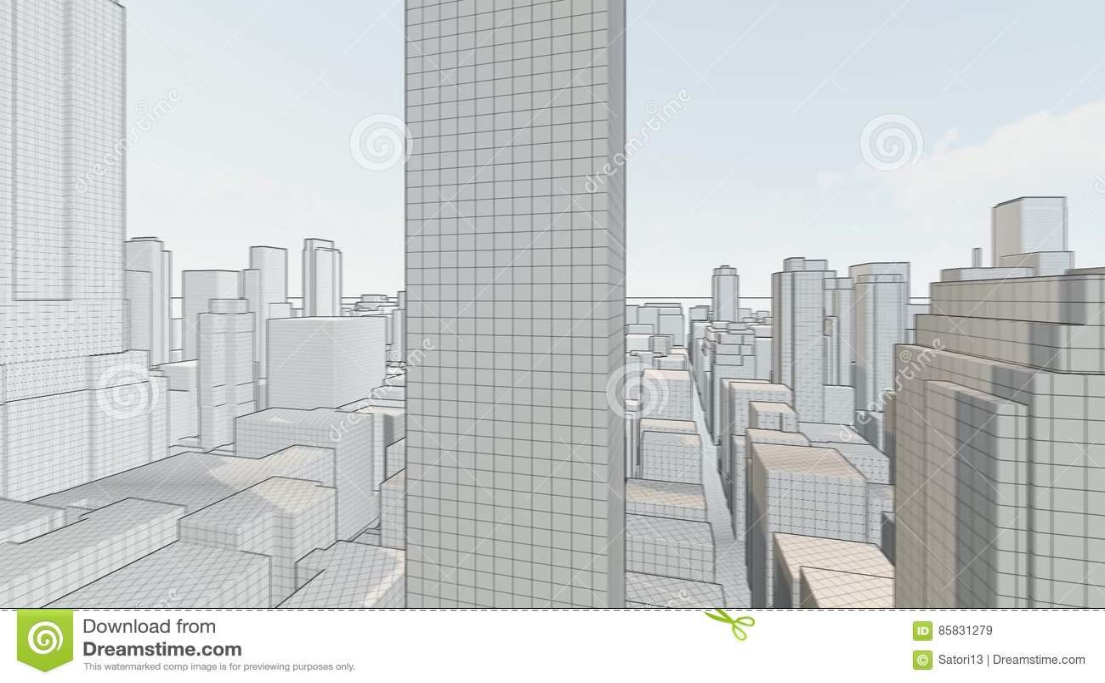 architecture blueprints skyscraper. Concept Skyscrapers Blueprint Stock Video - Of Futuristic, Angle: 85831279 Architecture Blueprints Skyscraper