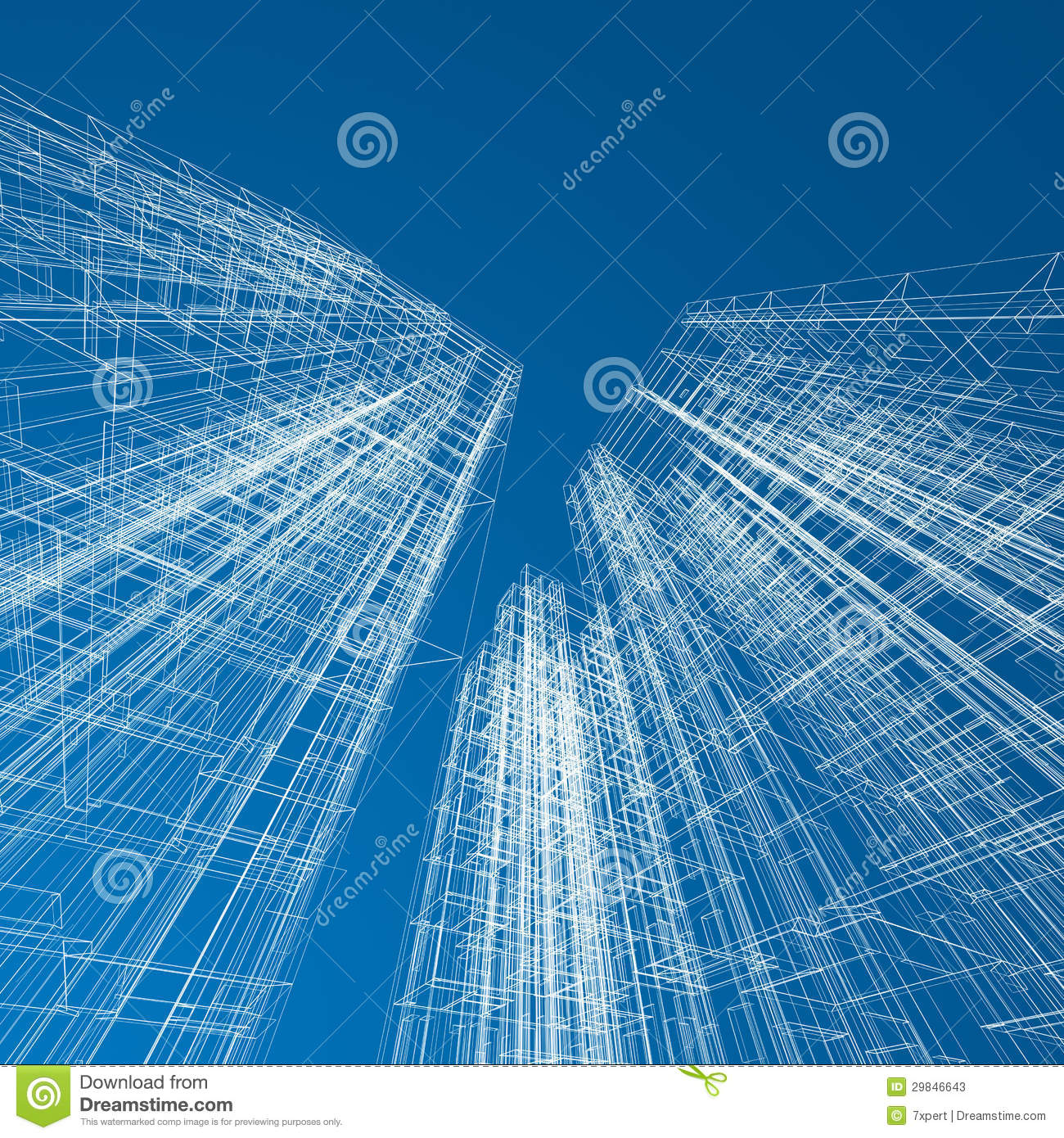 Concept skyscrapers blueprint stock photos image 29846643 for Architecture design blueprint