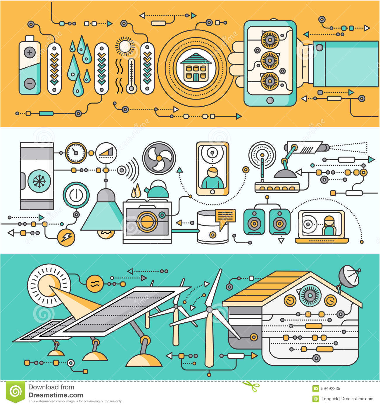 Concept Of Smart Home And Control Device Stock Vector