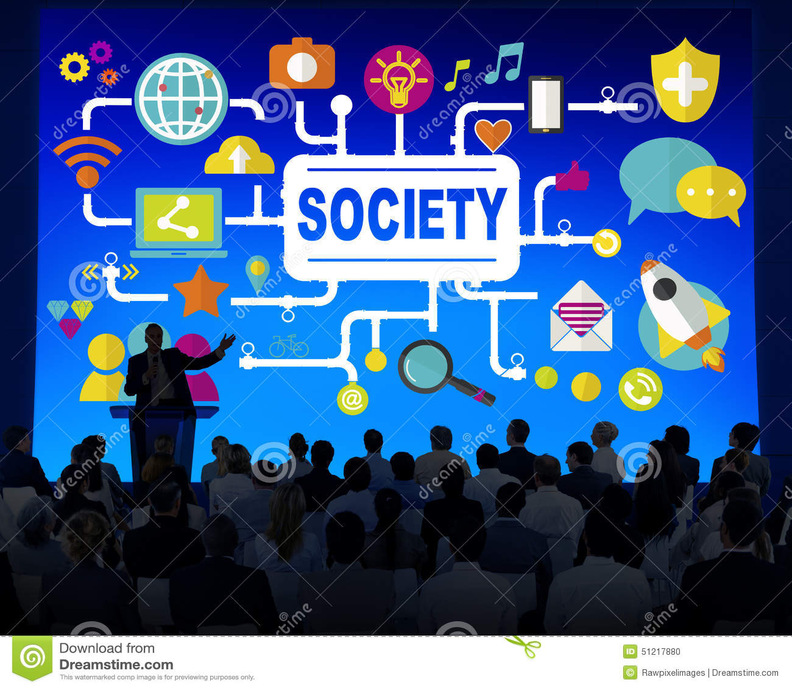Concept social de connexion de mise en réseau de media social de société