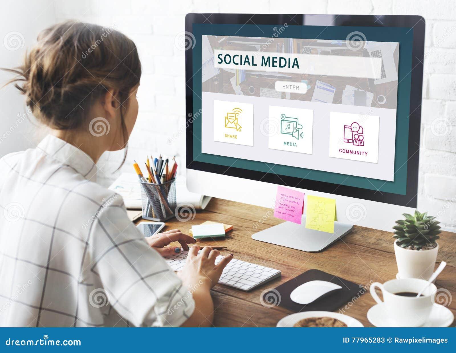 Concept social de graphique de la Communauté de part de media