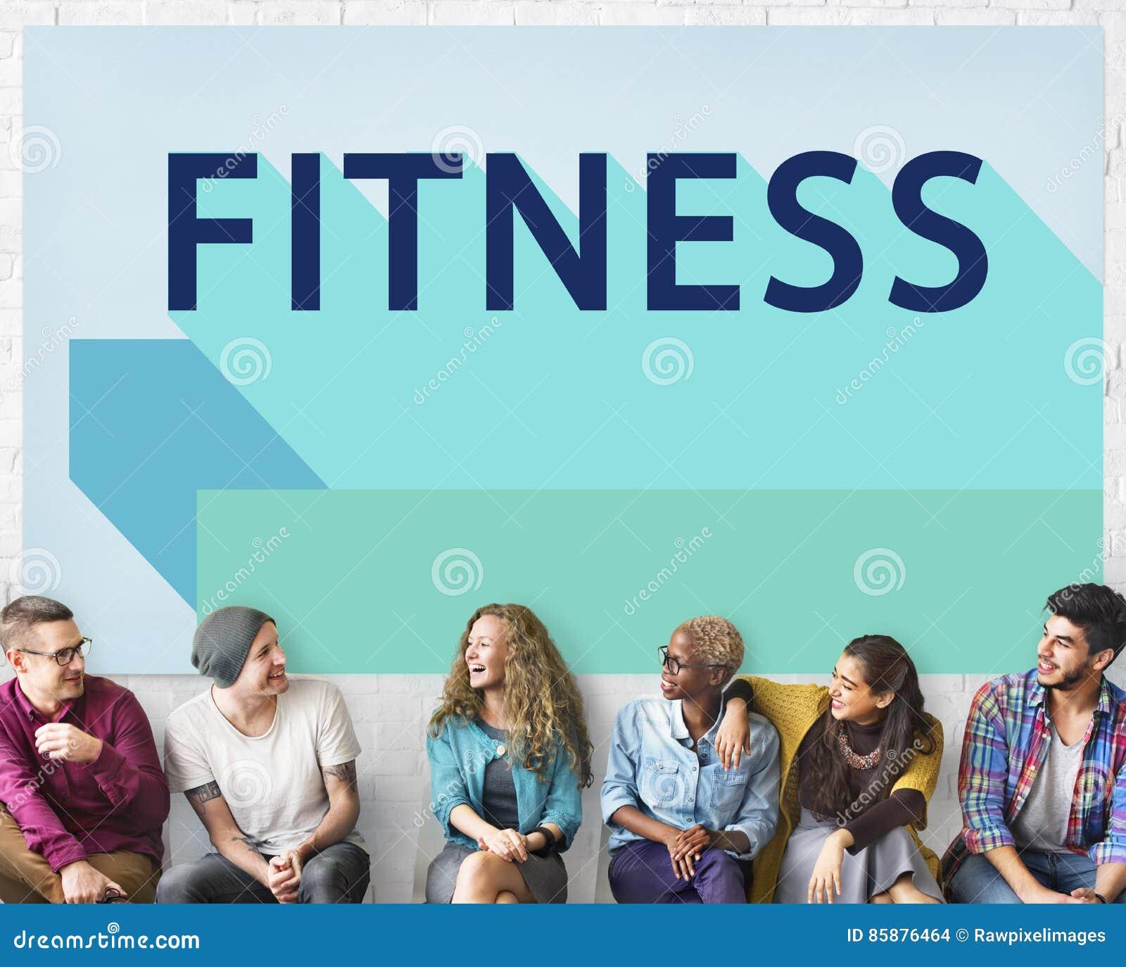 Concept sportif d exercice de bien-être de formation de santé de forme physique
