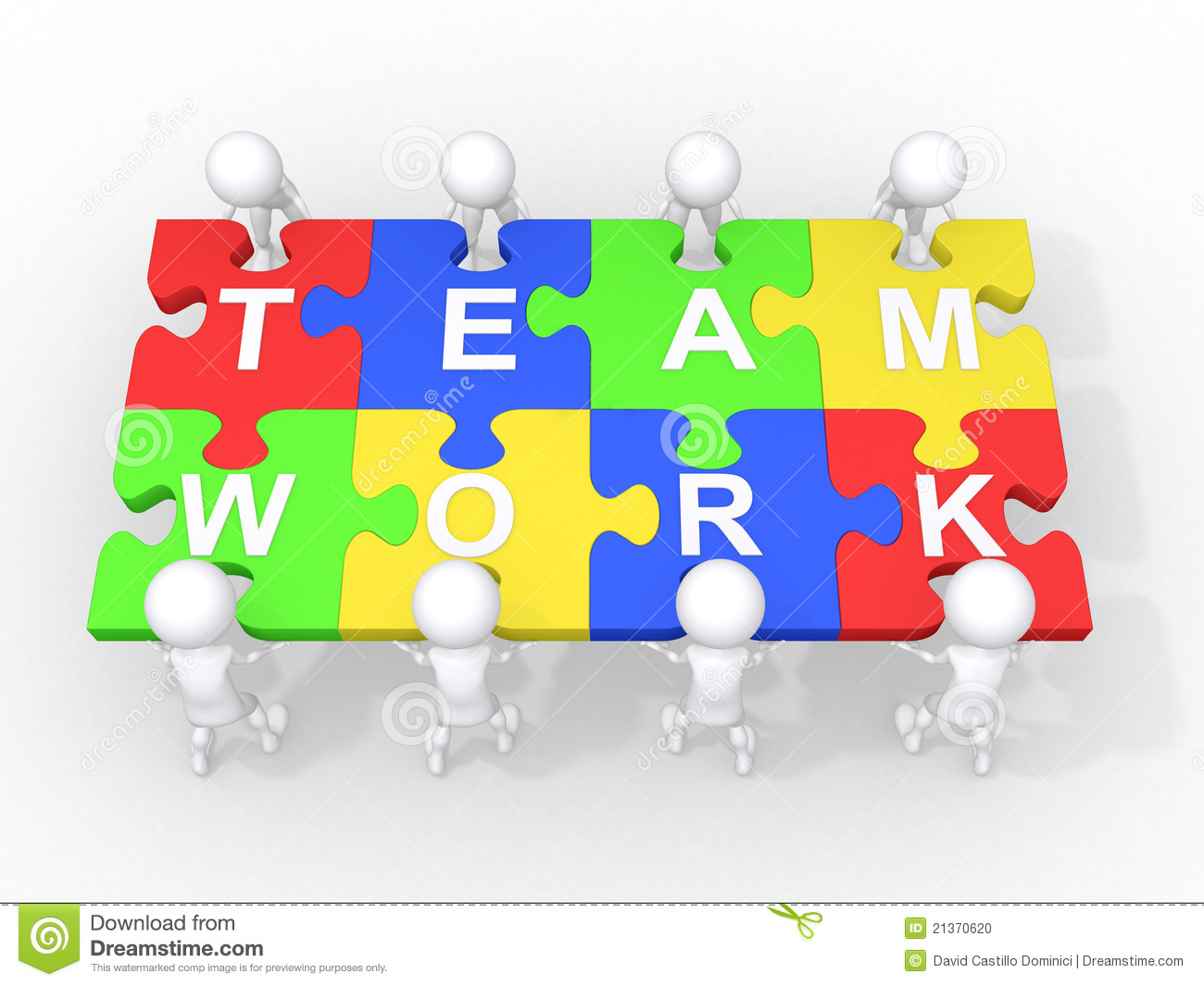 Concept Of Teamwork, Leadership, Cooperation Stock Photo - Image ...